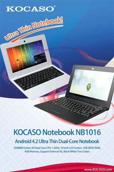 Introducing Upgrade Version Ultra Thin Kocaso NB1016