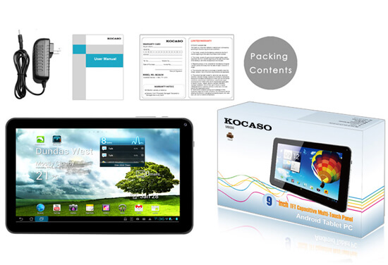 KOCASO M9100 Tablet PC 9in